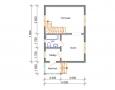 Проект дома из бруса 6 х 8 м «Гольцово» - план 1-го этажа