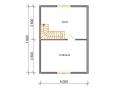 Проект дома из бруса 6 х 8 м «Гольцово» - план 2-го этажа
