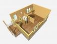 Проект дома из бруса 6 х 8 м «Гольцово» - разрез 1-го этажа