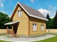 Проект дома из бруса 7 х 5 м «Гольцово» - фасад 2