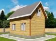 Проект дома из бруса 7 х 5 м «Гольцово» - фасад 3