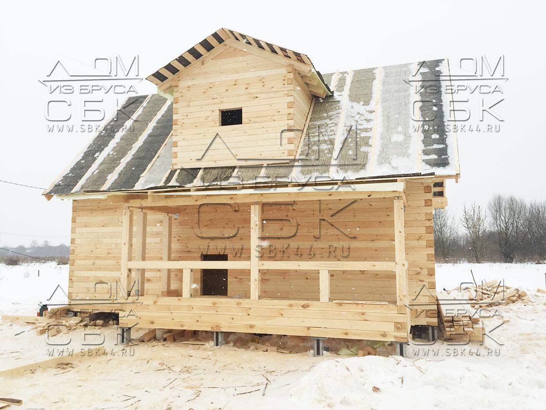 Дом из профилированного бруса своими руками Строительный 93