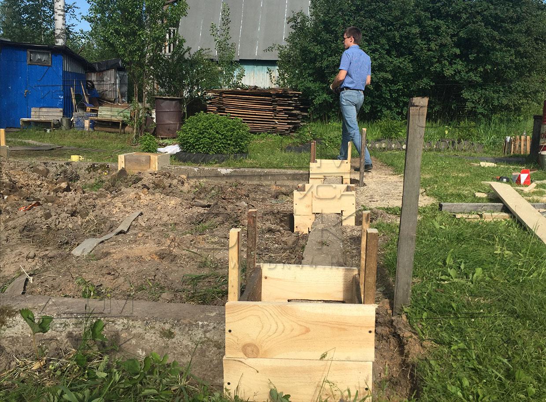 Садовый домик без фундамента своими руками 83