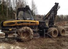 Заготовка костромского зимнего леса - харвестор