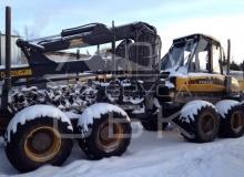 Заготовка зимнего леса (харвестер)