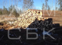 Заготовка костромского леса - штабеля зимнего леса