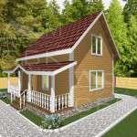 Проект дома из бруса 6 х 8 м «Борисово» - фасад