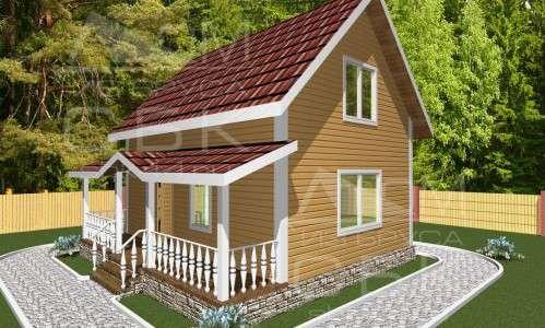 Проект дома из бруса 6 х 8 м «Борисово»