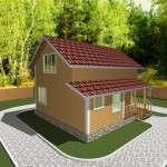 Проект дома из бруса 7,5 х 8 м «Березово» - фасад 3