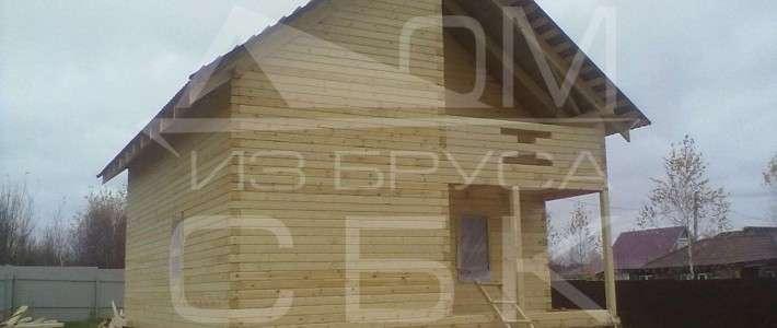 Дом из бруса 7,5х8