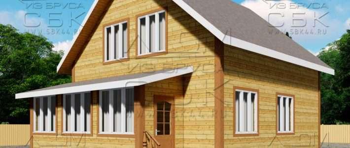 Проект дома из бруса 12 на 8 м «Аксёново»