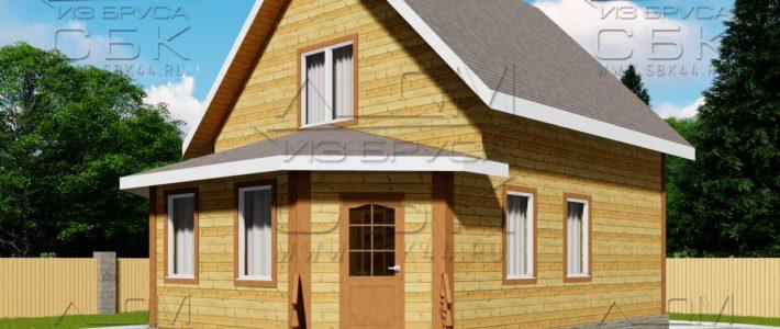 Проект дома из бруса 7 х 9,5 м «Григорьевское»