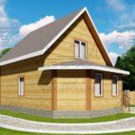 Проект дома из бруса 7 х 9,5 м «Григорьевское» - фасад 3