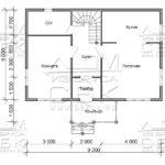 Проект дома из бруса 6 х 9 м «Бахарево» - план 2-го этажа