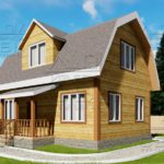 Проект дома из бруса 6 х 9 м «Бахарево» - фасад 2