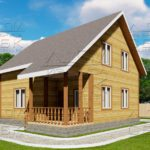 проект дома из бруса 7,5 на 8 м «Твистово»