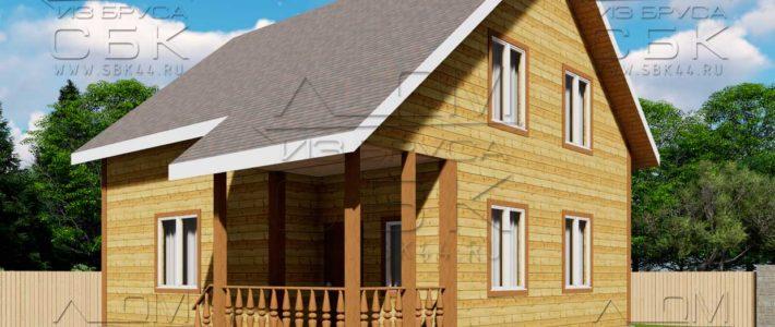 Проект дома из бруса 8 х 9 «Твистово»