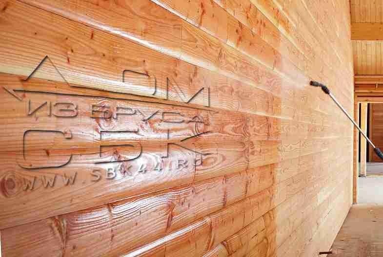 Правила обработки домов из бруса