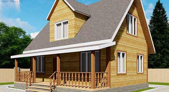Проект дома из бруса 6 на 9 м «Сантори»