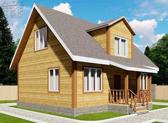 Проект дома из бруса 7 х 9 м «Град»
