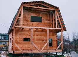 Дом из профилированного бруса 4х6
