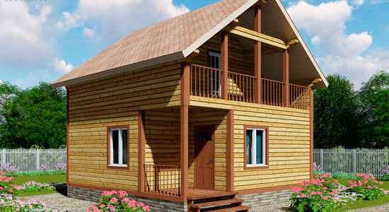 Гостевой дом с баней 7 на 7 «Брусово»
