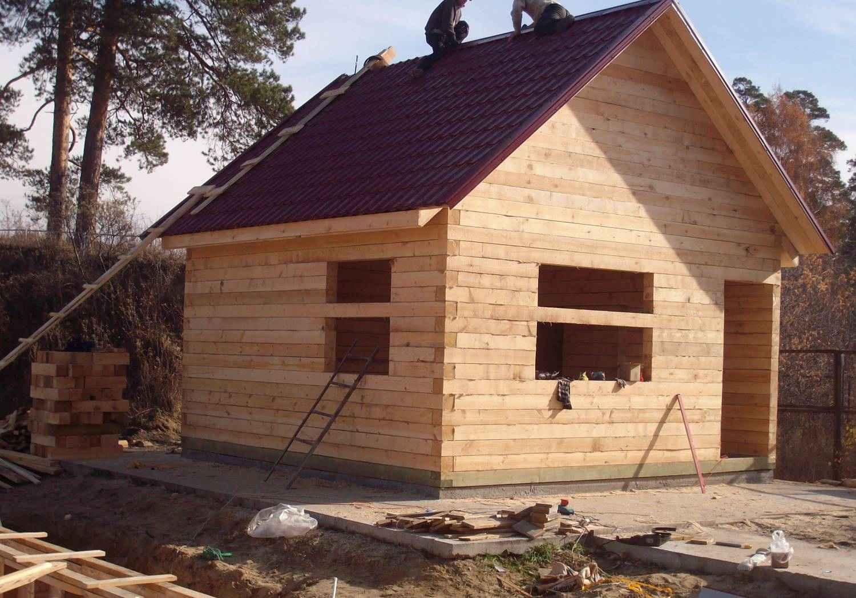 Построить дом из бруса своими руками видео