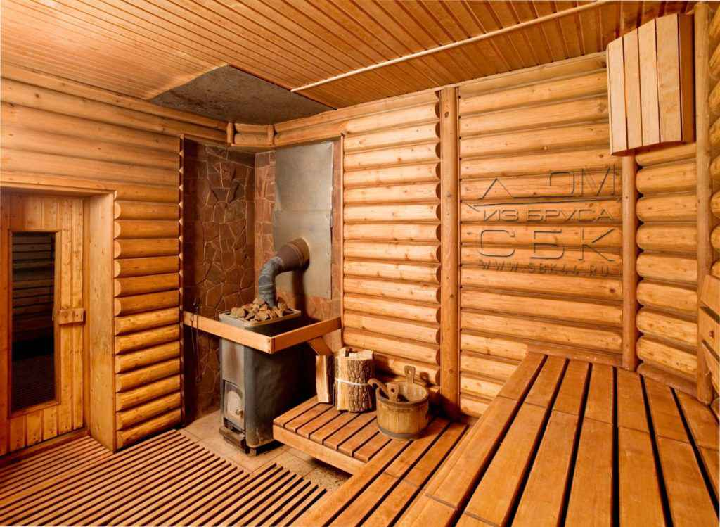 Строительство бани из профилированного бруса