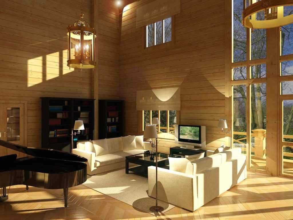 Дом из профилированного дома - интерьер
