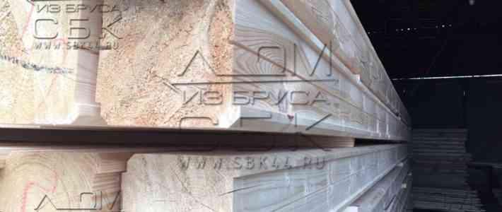 Рисунок профилированного бруса для строительства дома