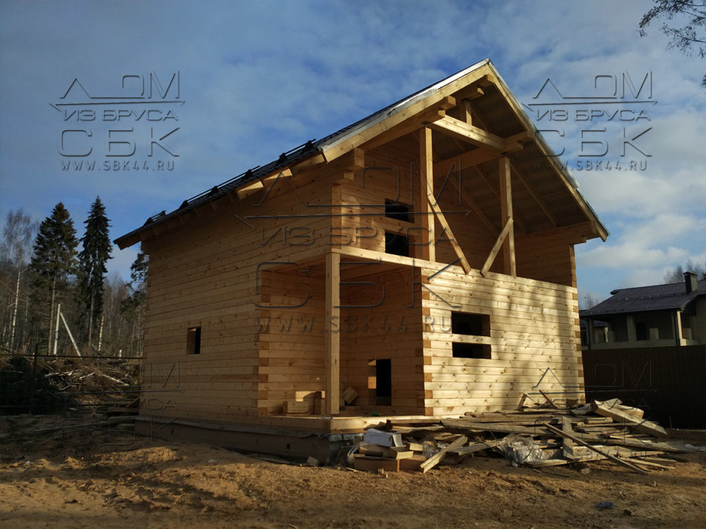 Построить дом из бруса в полтора этажа своими руками