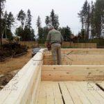 Строительство дома из профилированного бруса в ласточкин хвост