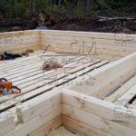 Строительство дома из профилированного бруса - внутренние перегородки в ласточкин хвост