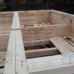 Строительство дома из профилированного бруса - теплый угол - ласточкин хвост