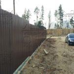 Ленточный фундамент под забор из металлопрофиля - профнастил