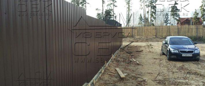 Ленточный фундамент под забор из металлопрофиля (часть 14)