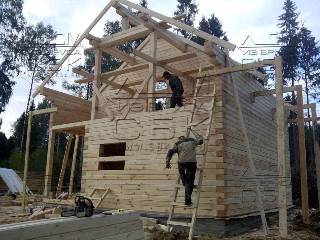 Как построить дом из бруса профилированного