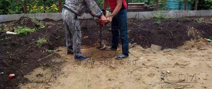 Свайно-ростверковый фундамент – лунки для буронабивных свай (часть 1)