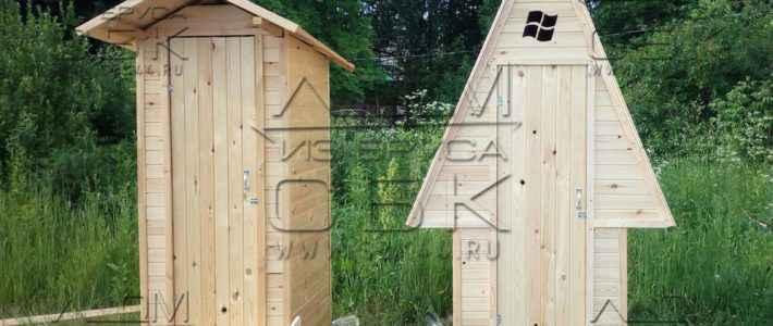 Дачные деревянные туалеты обшитые блок-хаусом