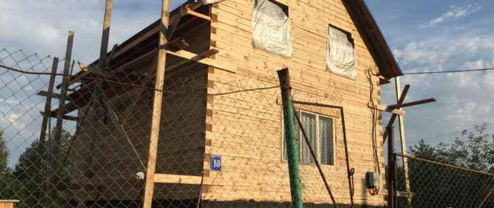Дом из строганого бруса 6 на 8 Костромская область (часть 4)