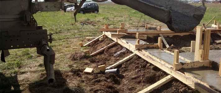 Заливка ленточного монолитного фундамента для дома из бруса 8 на 8 (часть 3)