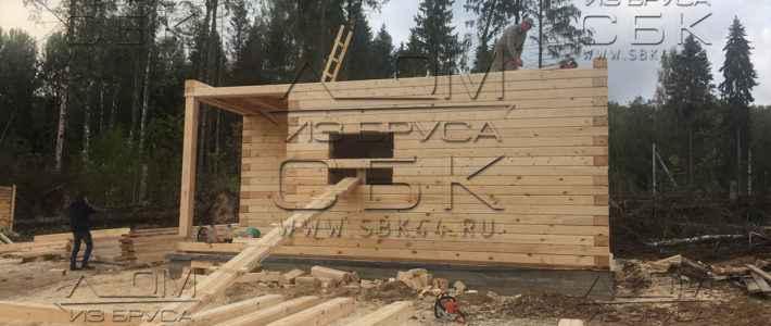 Строительство двухэтажного дома из профилированного бруса 195мм (часть 9)