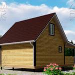 Проект брусового дома с террасой 6 х 6 (9) «Дугино» - 5