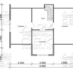 Дом из бруса 7 х 9 м «Гальяново» - план 2-го этажа