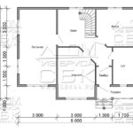 Дом из бруса 7 х 9 м «Гальяново» - план 1-го этажа