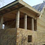 Дом из профилированного бруса 6 х 9 с террасой не покрашен