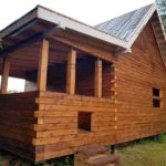 Дом из профилированного бруса с террасой 3 х 6