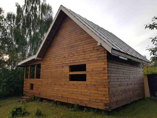 Дом 6 х 9 м с террасой из профилированного бруса – сдача в г. Кострома