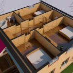 Проект дома из бруса 9 х 8 м в полтора этажа «Владимир» - планировка 2 эт
