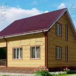 Проект полутораэтажного дома из бруса 8,5 х 8,5 «Эко-Градный» - фасад 2